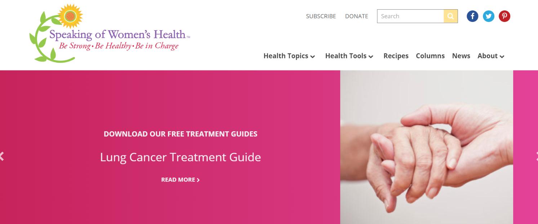 Speaking of women's health: Women blog and website