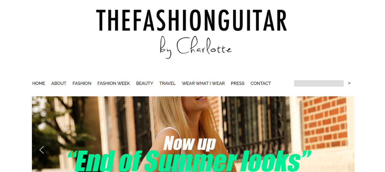 The fashion guitar; Fashion blog and website