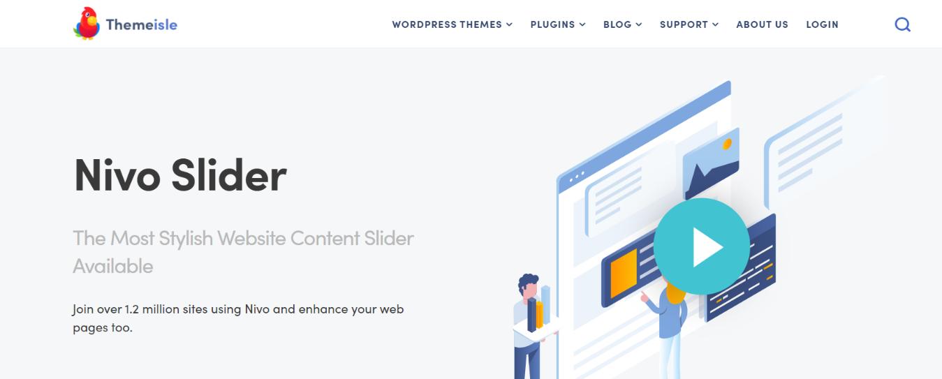 Nivo slider:  WordPress slider and carousel plugin
