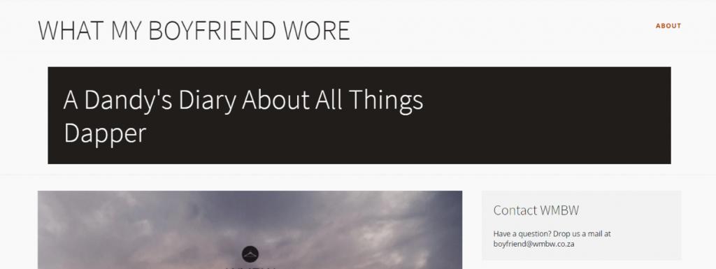 Whatmy boyfriend wore: Fashion blog and website