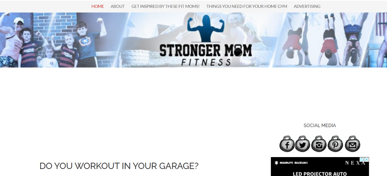 Workout mommy: Women blog and website