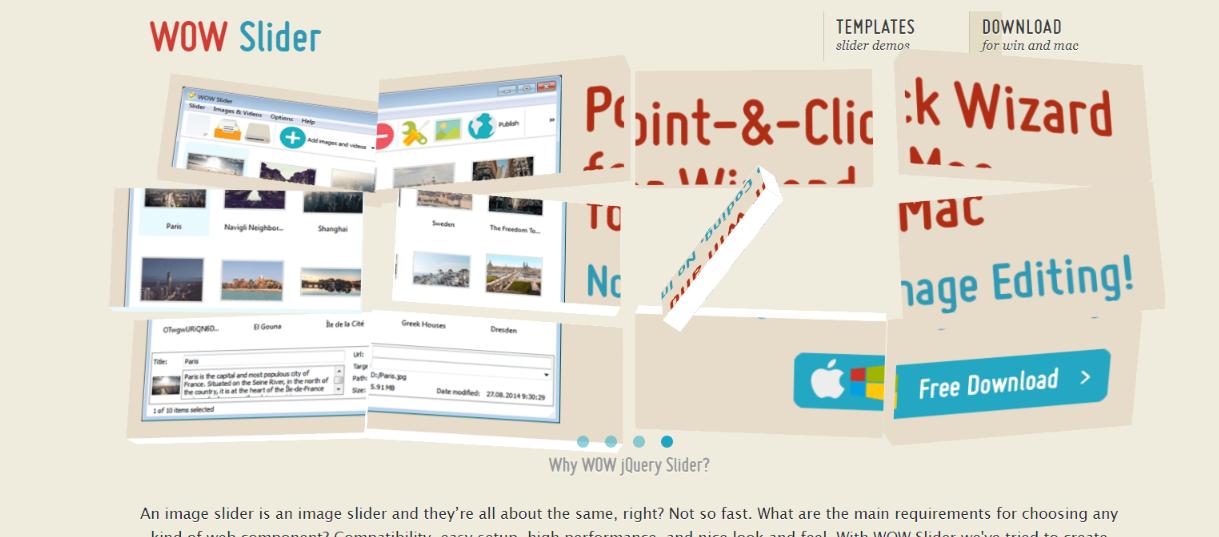 Wow slider:  WordPress slider and carousel plugin