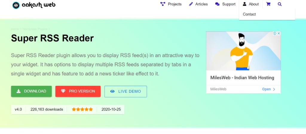 Super rss reader: WordPress Rss feed plugin