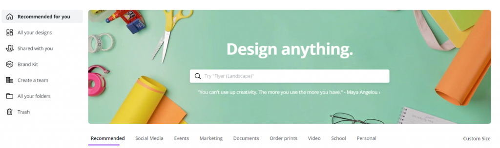 Canva: Content creation tool