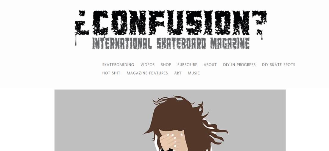 Confusion magazine: Skateboard magazine and publication
