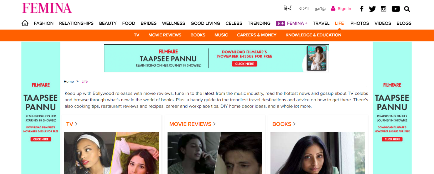 Femina: Women blog and website