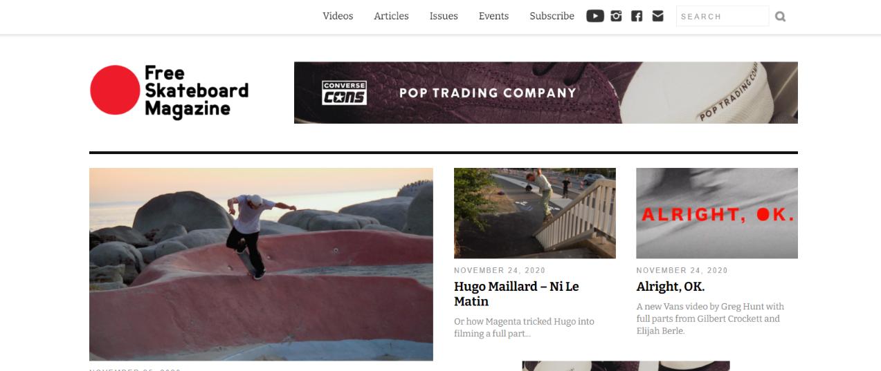 Free skate magazine: Skateboard magazine and publication