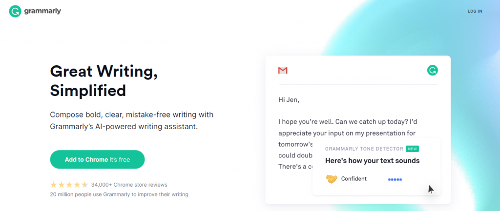 Grammarly: Chrome extensions for productivity