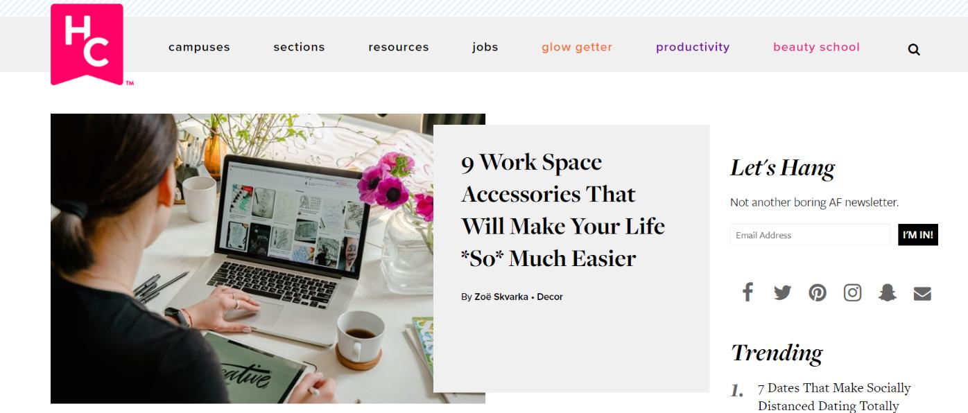 Her Campus: Women blog and website