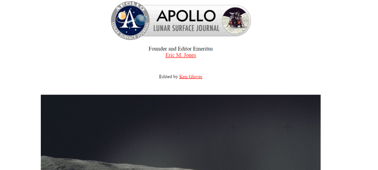 Apollo lunar surface journal: Astronomy magazine and publication