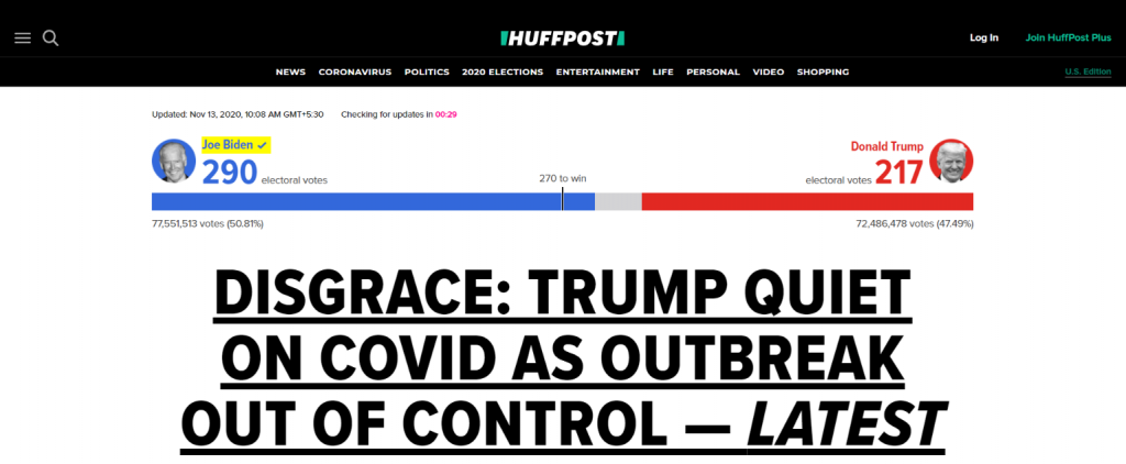 The huffington post: Political blog and website