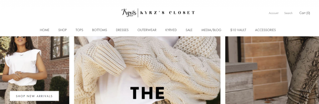 Kyrzadya; Fashion blog and website