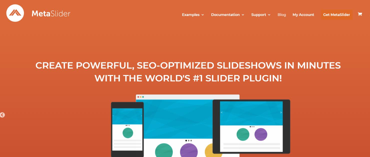 Meta Slider:  WordPress slider and carousel plugin