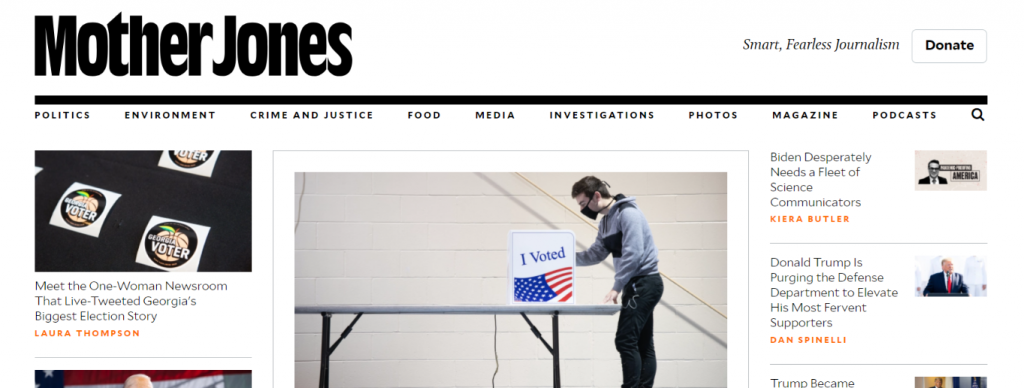 Mother Jones: Political blog and website