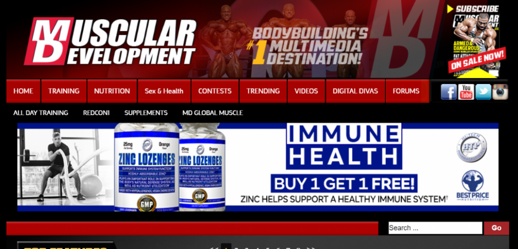 Muscular development: Bodybuilding blog and website