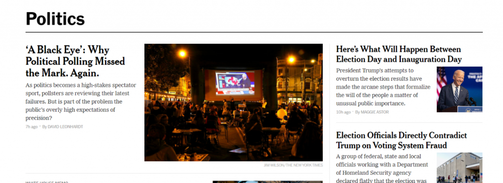 New York Times Politico: Political blog