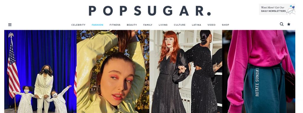 Pop sugar fashion: Fashion blog and website
