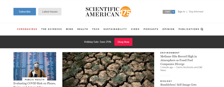 Scientific american magazine: Astronomy magazine and publication