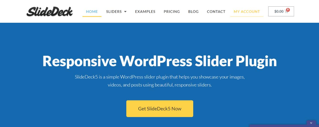 Slide deck:  WordPress slider and carousel plugin