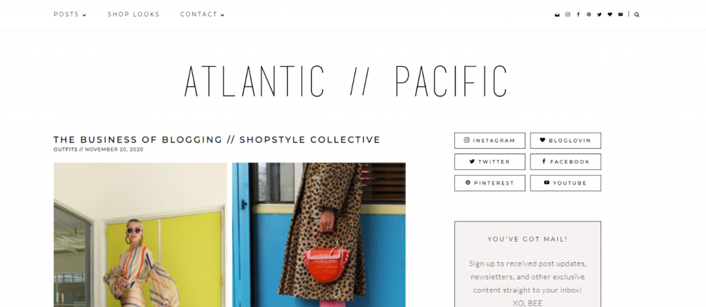 Atlantic pacific: Fashion blog and website