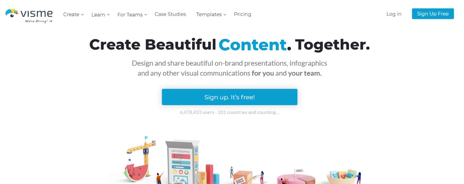 Visme: Content creation tool