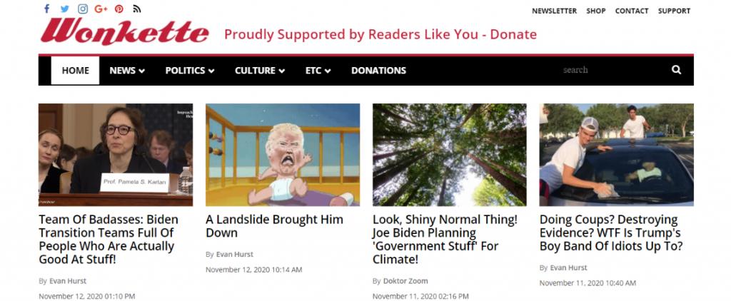 Wonkette: Political blog and website