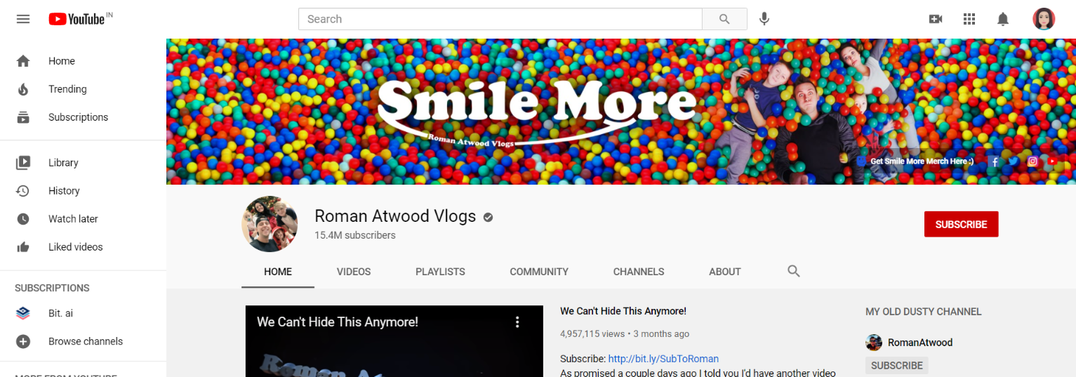 Roman atwood: Prank youtube channel