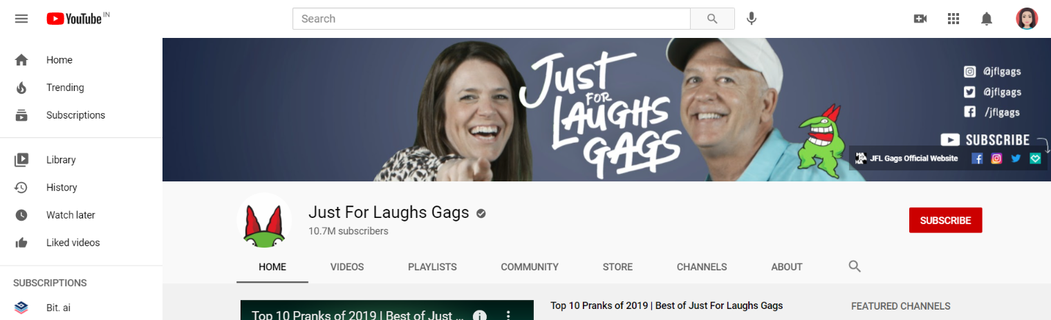 Just for laughs gags: Prank youtube channel