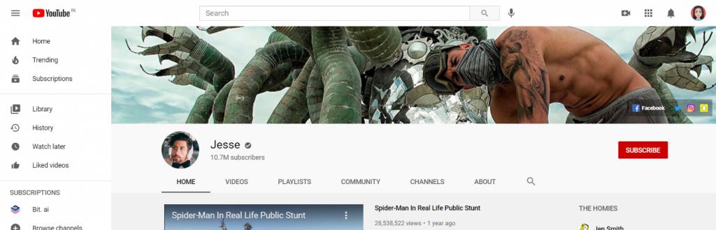 Jesse: Prank youtube channel