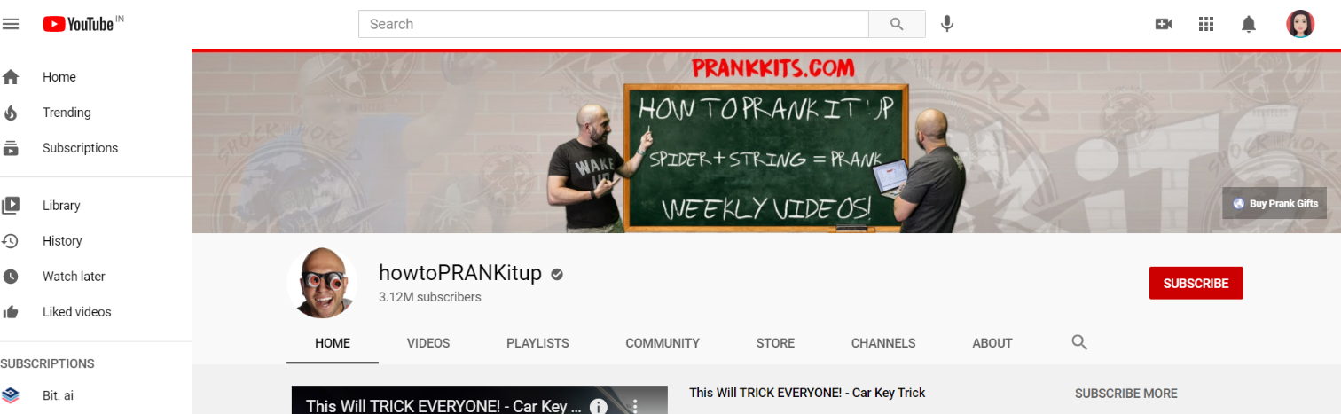 How to prank it up: Prank youtube channel