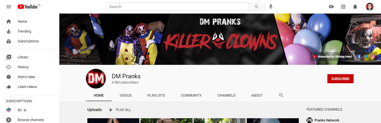 Dm pranks: Prank youtube channel