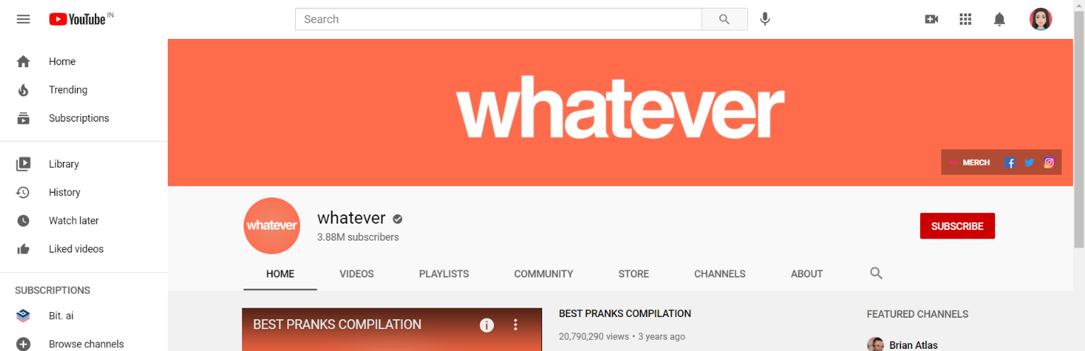 Whatever: Prank youtube channel
