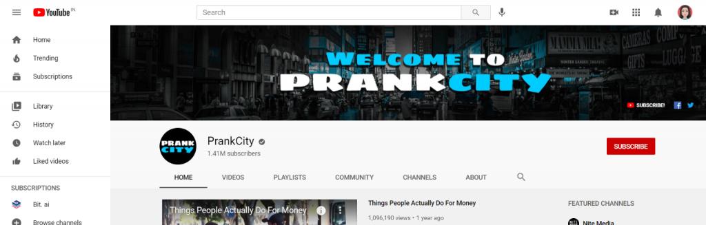 Prank city: Prank youtube channel