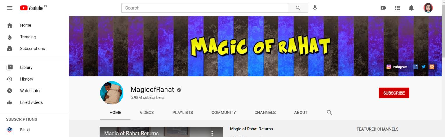 Magic of rahat: Prank youtube channel