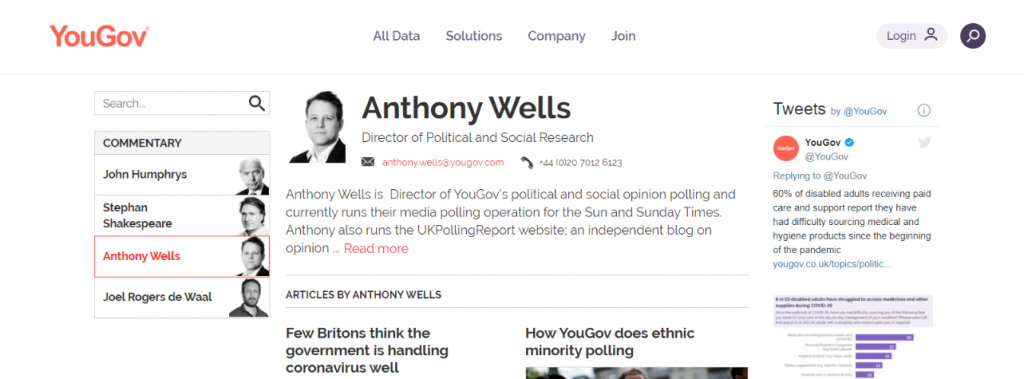 Anthony Wells: Political blog and website