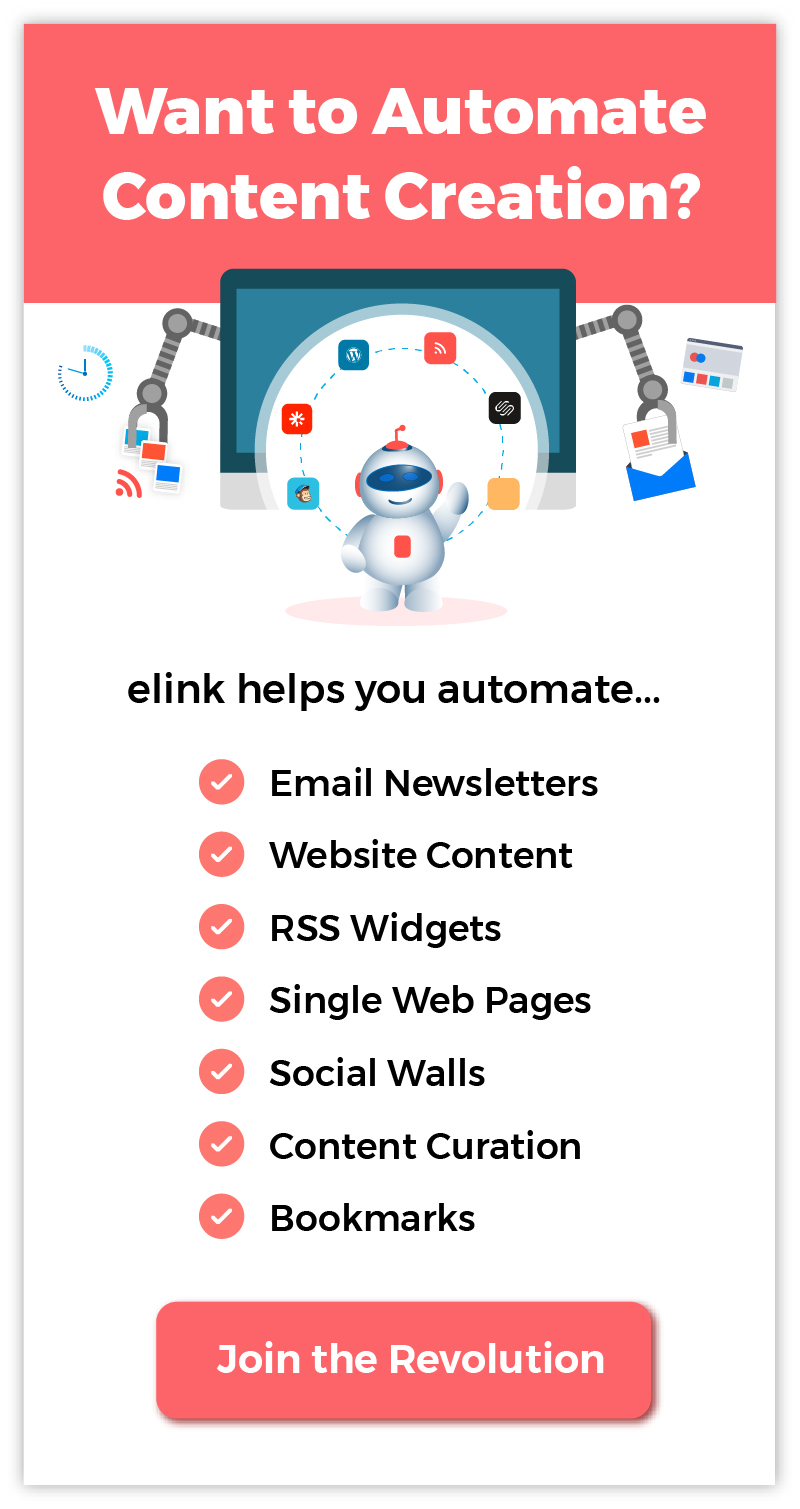 Automate content creation using elink