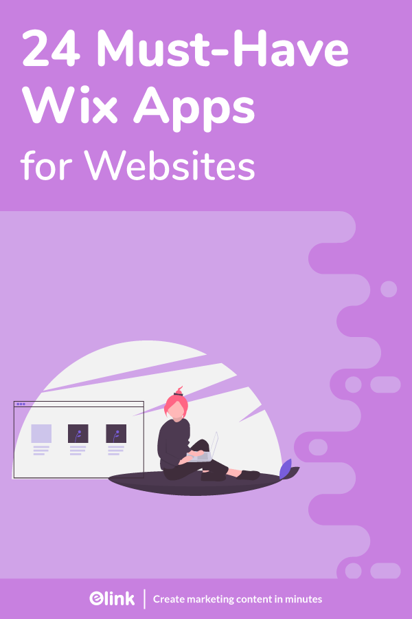 Wix apps for websites - pinterest