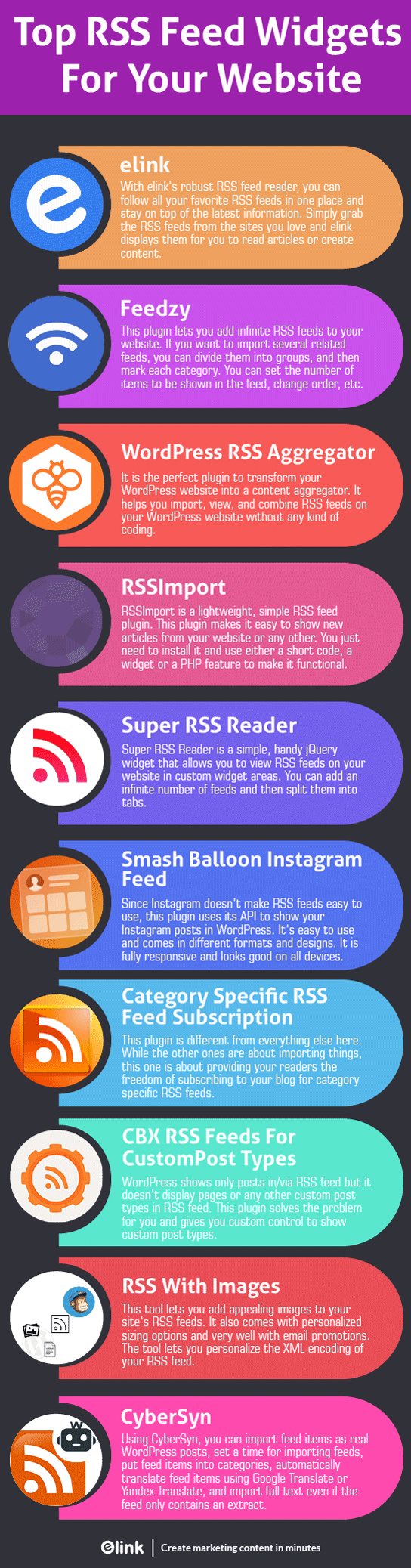 Rss feed widgets infographic