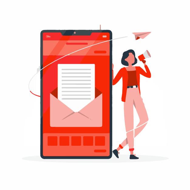 A marketer sending out newsletter