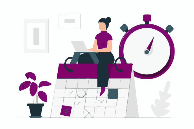 A marketer saving time with the help of website template