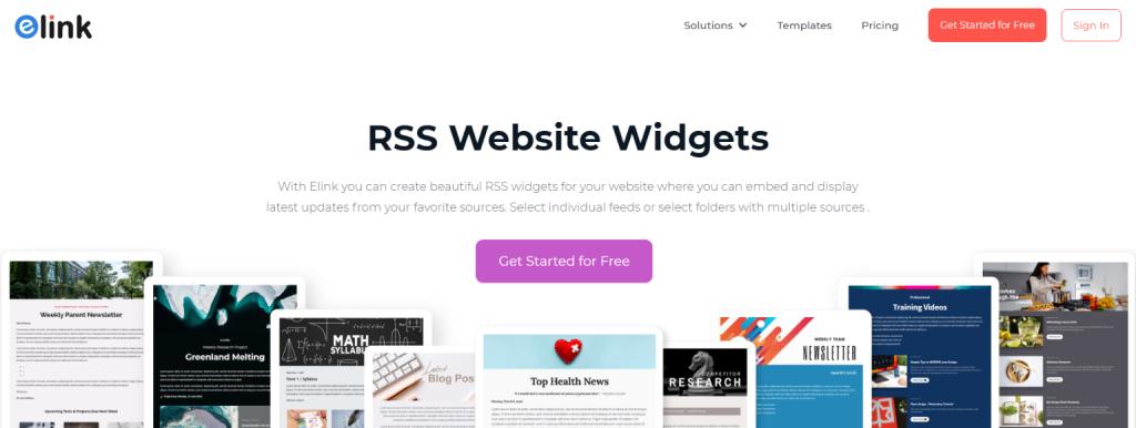 Elink.io: Rss feed widget