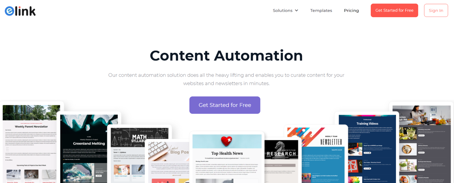elink.io: Content automation tool