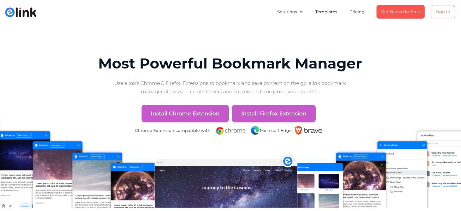 Elink.io: Bookmark manager