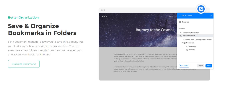 Create folders and subfolders in ellink