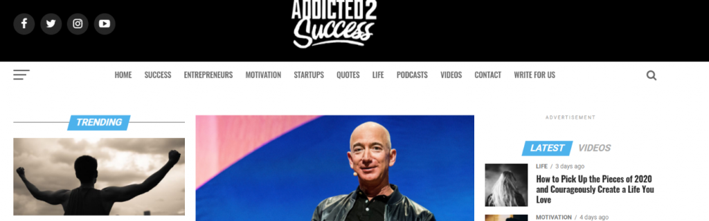 Addicted the success: Inspirational blog and website