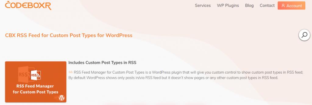 CBX Rss feed: Rss feed widget