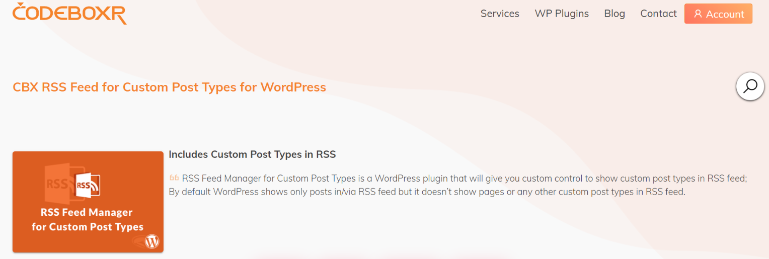 CBX Rss feed: Rss feed widget