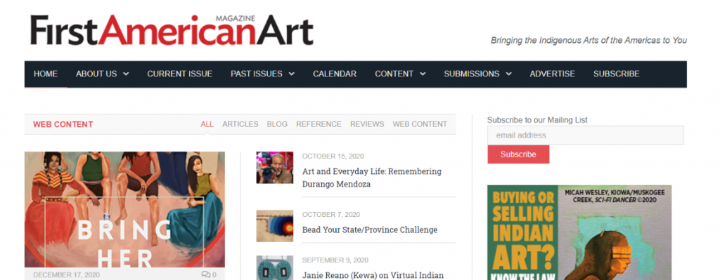 First american art magazine: Art magazine and publication