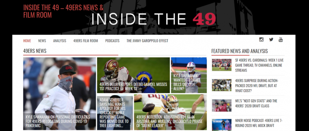 Inside the 49ers: NFL blog, website or influencer