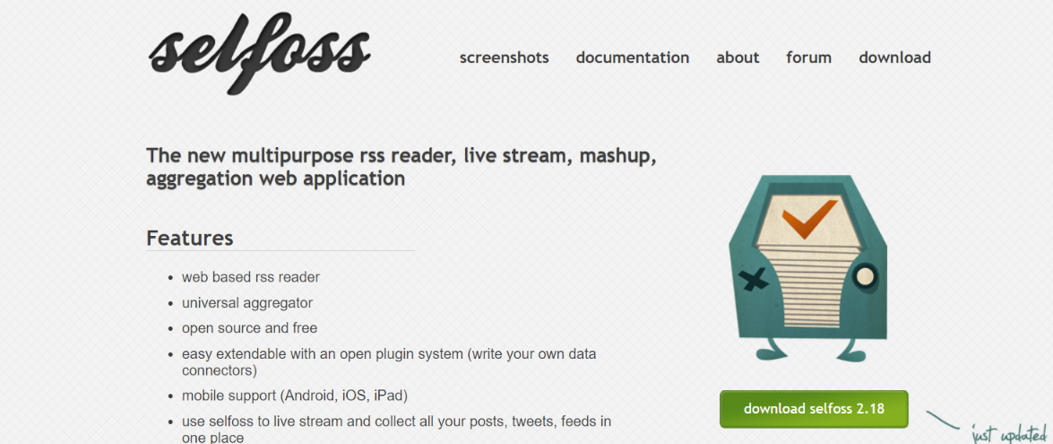 Selfoss: Tool to read rss feeds